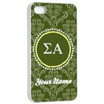 Sigma Alpha Sorority iPhone 4/4s Case - Apple iPhone 4/4s Seamless Case (White)