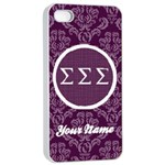Sigma Sigma Sigma Sorority iPhone 4/4s Case - iPhone 4/4s Seamless Case (White)