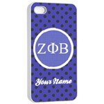 Zeta Phi Beta Sorority iPhone 4/4s Case - iPhone 4/4s Seamless Case (White)
