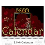 2019 February Start Red Love Heart Calendar - Wall Calendar 8.5  x 6