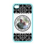 True Love Black, White, & Pink Apple iPhone Case (Color) - iPhone 4 Case (Color)