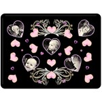 Black Heart Blanket XL - Fleece Blanket (Large)