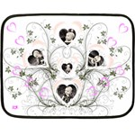 Bouquet of Hearts Mini Blanket - Fleece Blanket (Mini)
