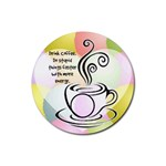 Coffee Coaster 6 - Rubber Coaster (Round)