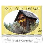 Out with the Old, In with the new - calendar - Wall Calendar 11  x 8.5  (18 Months)