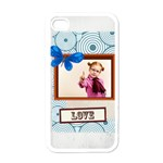 love - Apple iPhone 4 Case (White)