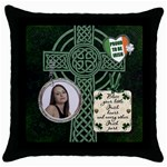 Proud to be Irish Throw Pillow Case - Throw Pillow Case (Black)