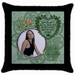 Lucky Irish Throw Pillow Case - Throw Pillow Case (Black)