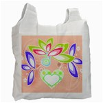Heart and Flowers Recycle bag - Recycle Bag (One Side)