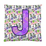 J Pillow 1side - Standard Cushion Case (One Side)