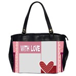 with love - Oversize Office Handbag (2 Sides)