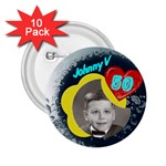 Johns 50th Birthday - 2.25  Button (10 pack)