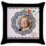 Light in the Heart Cushion Cover - Throw Pillow Case (Black)
