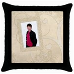 Tree of Love Cushion Cover - Throw Pillow Case (Black)