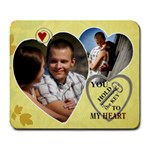 Key to my Heart Mousepad - Large Mousepad