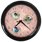 Bird cage clock - Wall Clock (Black)