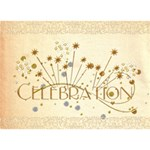 Celebration Birthday Cake Card - Birthday Cake 3D Greeting Card (7x5)
