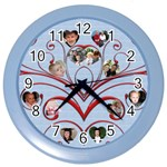 My Family - Color Wall Clock