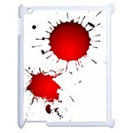 Splatter iPad case - Apple iPad 2 Case (White)