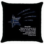 pillow with poem - Throw Pillow Case (Black)