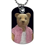 teddy bear necklace - Dog Tag (Two Sides)