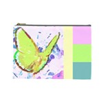butterfly and flower - Cosmetic Bag (Large)