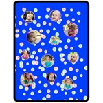 XL Dots Blue Blanket - Fleece Blanket (Large)