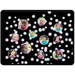 XL Black Dots Blanket - Fleece Blanket (Large)