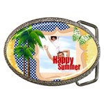 happy summer - Belt Buckle