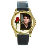 samplewatch - Round Gold Metal Watch