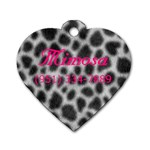 mimosa s Tag  - Dog Tag Heart (One Side)