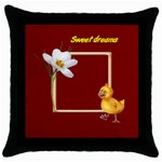 sweet dreams pillow - Throw Pillow Case (Black)