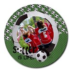 Round Mousepad- Soccer theme, sports - Collage Round Mousepad