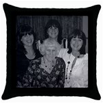 girls and aunty dolly - Throw Pillow Case (Black)