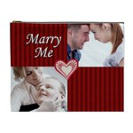 marry me - Cosmetic Bag (XL)