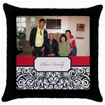 mhelanred2 - Throw Pillow Case (Black)