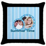 summer time - Throw Pillow Case (Black)