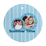 summer time - Round Ornament (Two Sides)