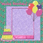Happy Birthday - ScrapBook Page 12  x 12
