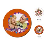 playing time - Playing Cards Single Design (Round)