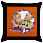 playing time - Throw Pillow Case (Black)
