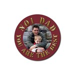 No1 Dad Gold Coaster - Rubber Coaster (Round)