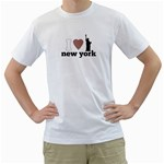 NYC T-Shirt - Men s T-Shirt (White) (Two Sided)