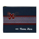XL - Cosmetic Bag - Red and Blue - Cosmetic Bag (XL)