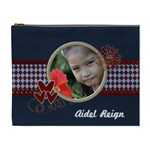 XL - Cosmetic Bag - Red and Blue 2 - Cosmetic Bag (XL)