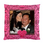 Pink Rose Cushion  cover single side - Standard Cushion Case (One Side)