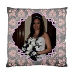 Pink Grey Wedding Cushion  cover single side - Standard Cushion Case (One Side)