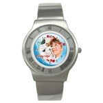 happy life - Stainless Steel Watch