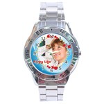 happy life - Stainless Steel Analogue Watch