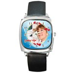 happy life - Square Metal Watch